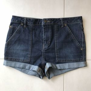 Free People Pockets Cuffed High Waist Denim Shorts